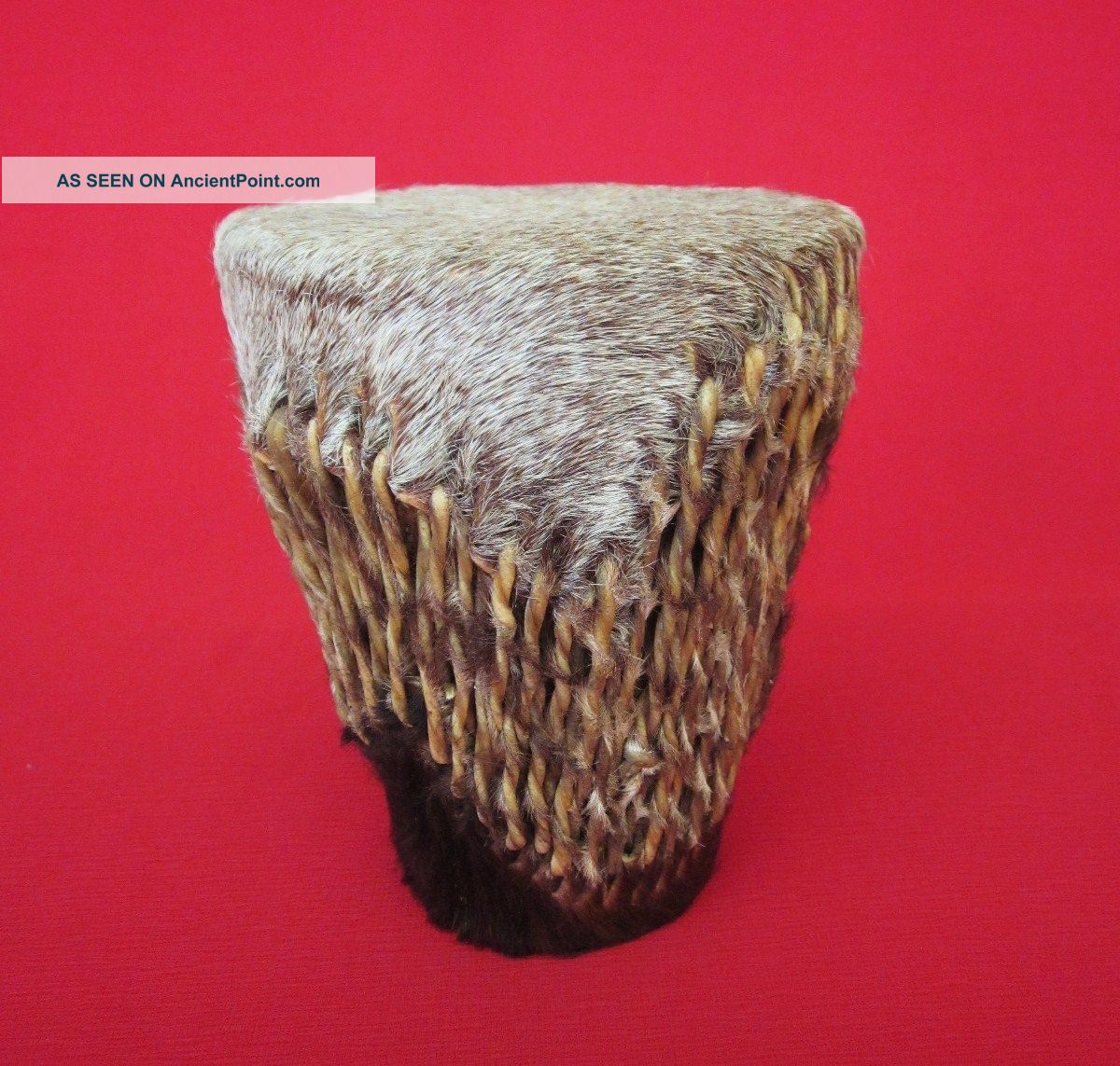 Small Vintage Rawhide West African Drum African photo