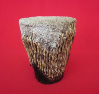 Small Vintage Rawhide West African Drum photo