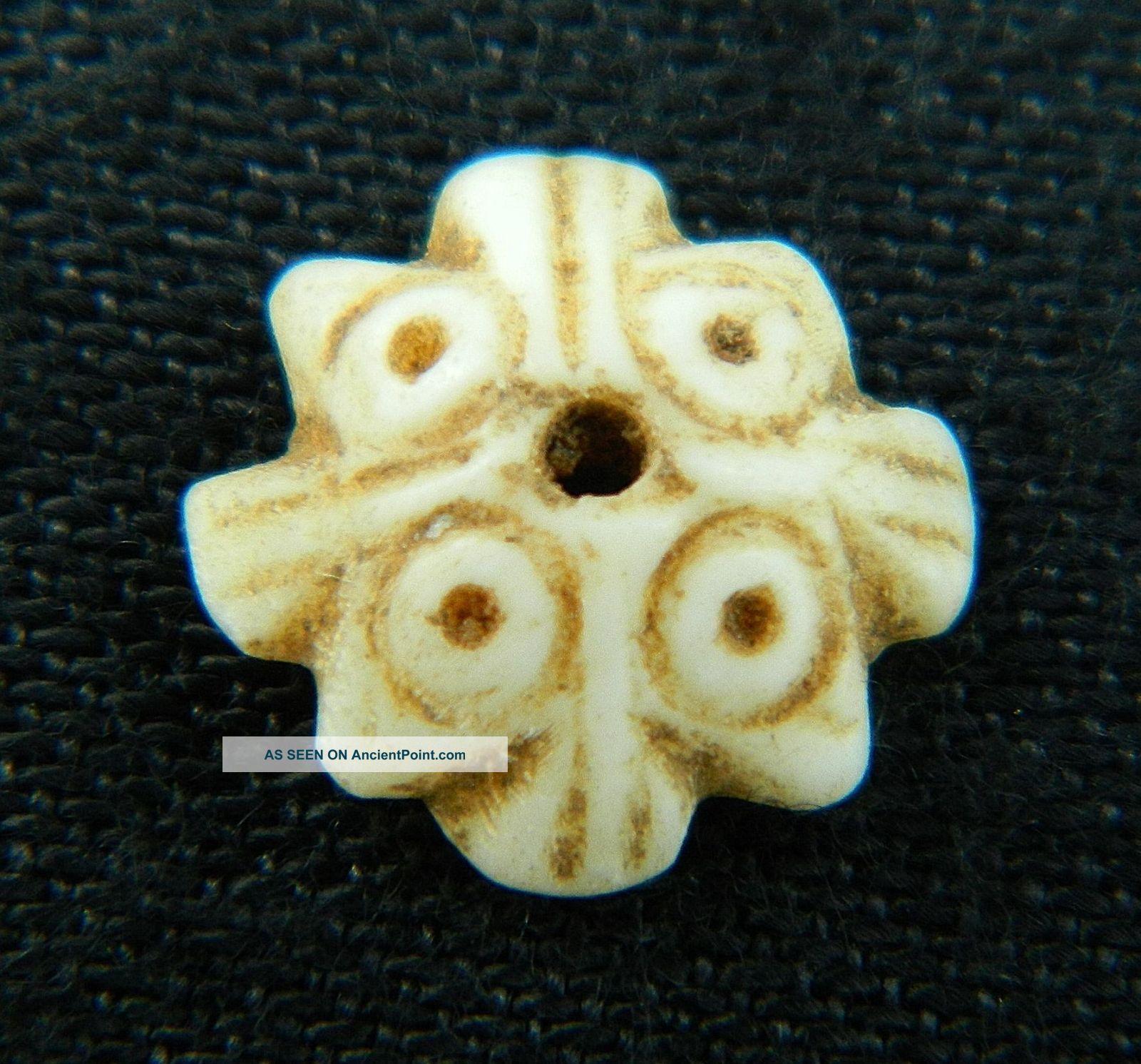 Ancient Marine Shell Bead - 200 Years Old - Sahara Jewelry photo
