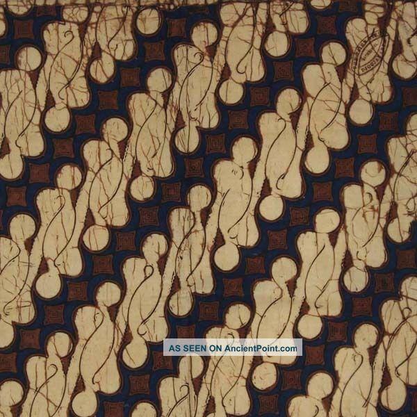 Indonesia Hand Drawn Batik Tulis Fabric Textile Clothes Wax Dye Yogyakarta Bx58 Pacific Islands & Oceania photo