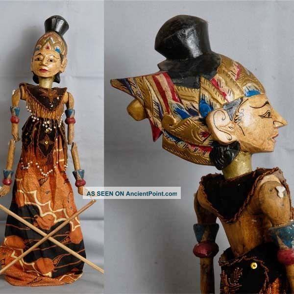 Indonesie Javanese Wayang Golek Marionette Wooden Carved Rod Puppet Jawa Gm82 Pacific Islands & Oceania photo