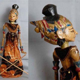 Indonesie Javanese Wayang Golek Marionette Wooden Carved Rod Puppet Jawa Gm82 photo