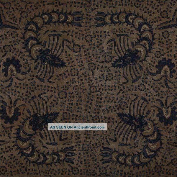 Old Vintage Javanese Hand Drawn Batik Tulis Fabric Textile Clothes Wax Dye Bx46 Pacific Islands & Oceania photo