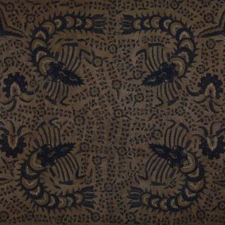 Old Vintage Javanese Hand Drawn Batik Tulis Fabric Textile Clothes Wax Dye Bx46 photo