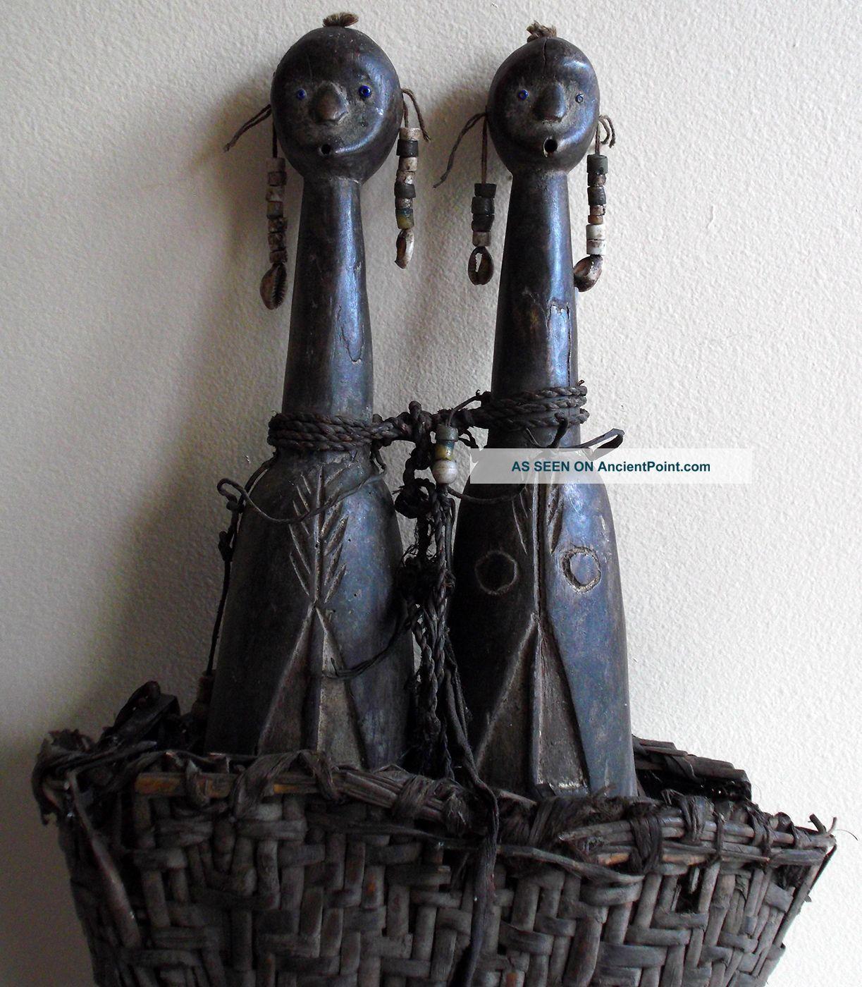 Item 042 Nemji Namji Cameroon Twin Fetish Ancestral Reliquary Figure Masks photo