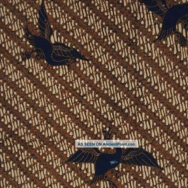 Indonesia Javanese Batik Fabric Textile Clothes Wax Dye Sogan Jawa Bx11 Pacific Islands & Oceania photo