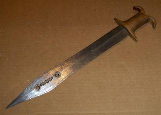 Congo Old African Knife Ancien Couteau Afrique Yakoma Afrika Kongo Africa Dolk photo