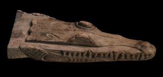 Canoe Prow,  Crocodile Head,  Papuan Tribal Art,  Sepik photo