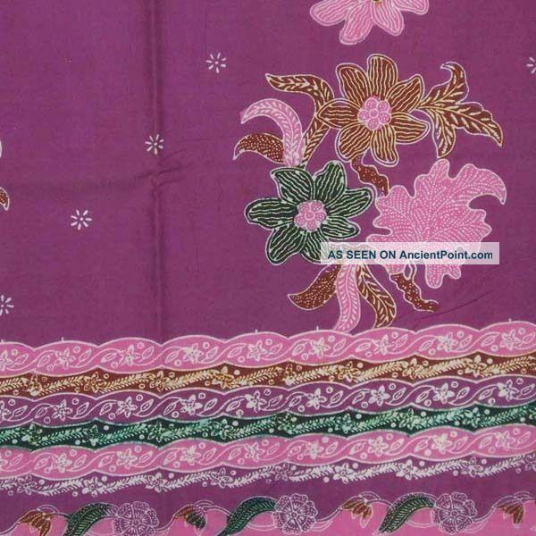 Indonesia Hand Drawn Batik Tulis Fabric Textile Cloth Wax Dye North Coast Bz39 Pacific Islands & Oceania photo