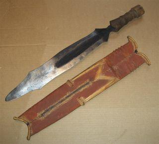 Congo Old African Knife Ancien Couteau Salampasu D ' Afrique Afrika Kongo Africa photo