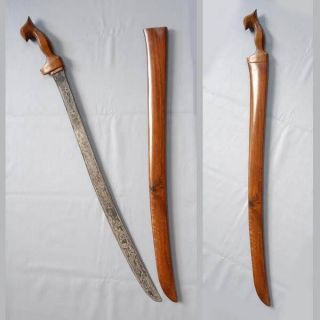 Old Sword Lameng Ngulit Semongko Wengkon Keris Art Rg93 photo