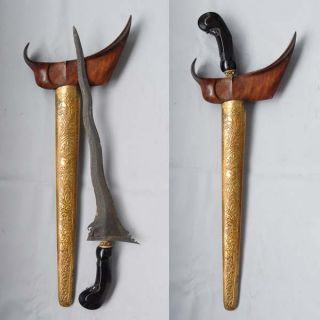 Old Keris 7 Luk Carubuk Cirebon Indonesia Javanese Rj12 photo