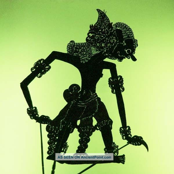 Wayang Kulit Shadow Puppet Schattenspielfigur Java Cp59 Pacific Islands & Oceania photo