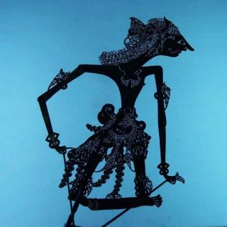 Wayang Kulit Indonesien Schattenspielfigur Marionette Shadow Puppet Gift Cw74 photo