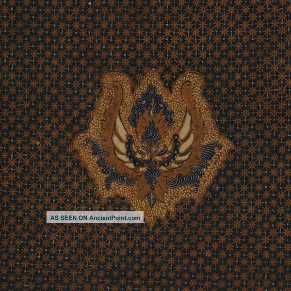 Vintage Indonesian Batik Kombinasi Fabric Textile Clothes Wax Dye Javanese Bz91 Pacific Islands & Oceania photo
