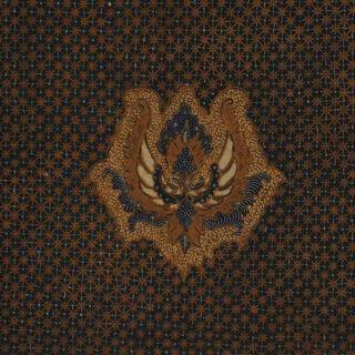 Vintage Indonesian Batik Kombinasi Fabric Textile Clothes Wax Dye Javanese Bz91 photo