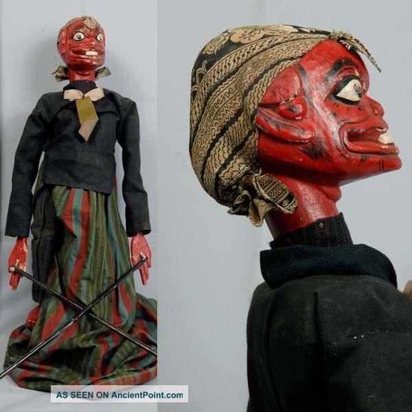 Indonesien Javanese Wayang Golek Marionette Wooden Carved Rod Puppet Jawa Gn07 Pacific Islands & Oceania photo
