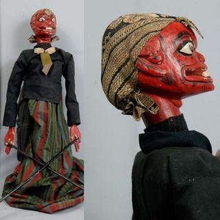 Indonesien Javanese Wayang Golek Marionette Wooden Carved Rod Puppet Jawa Gn07 photo