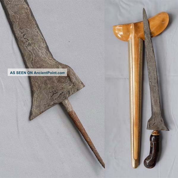 Old Keris Lurus Brojol Ganjairas Segaluh Gardariras Javanese Indonesien Rl62 Pacific Islands & Oceania photo