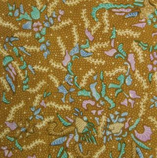 Indonesia Javanese Batik Fabric Textile Cloth Bs70 photo