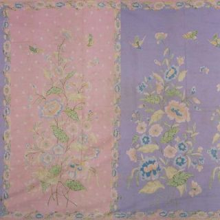 Old Vintage Dutch Batik Belanda Fabric Textile Cloth Wax Dye Sarung Sarong Bx28 photo