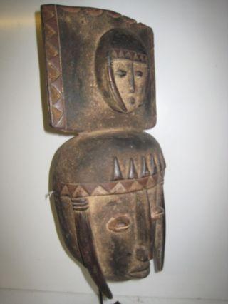 African Tribal Rare Ligbi Fendyonana Mask,  Ghana / Cote D ' Ivoire Baule photo