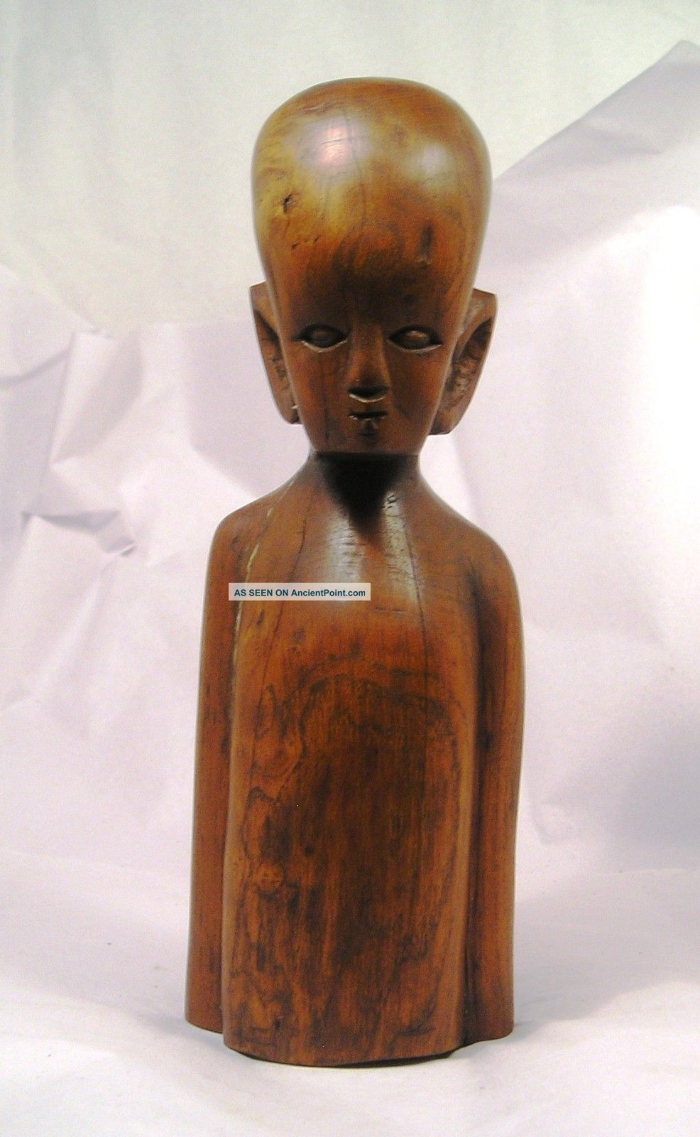 Wonderful Primitive Carved Wood Oceanic Figure Q27 Pacific Islands & Oceania photo