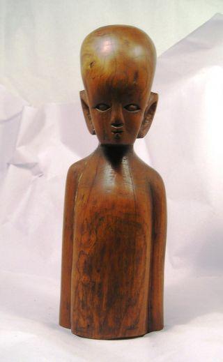 Wonderful Primitive Carved Wood Oceanic Figure Q27 photo
