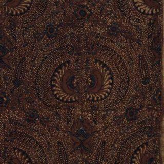 Indonesia Hand Stamped Batik Tjap Fabric Textile Clothes Wax Dye Sogan Jawa Bx08 photo