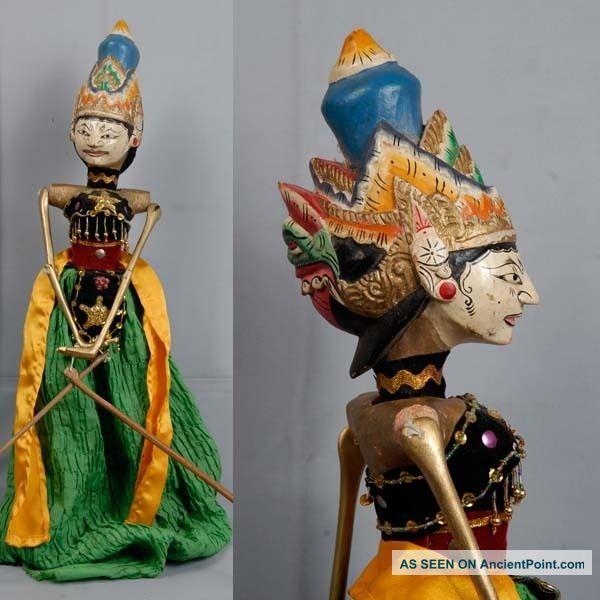 Indonesie Javanese Wayang Golek Marionette Wooden Carved Rod Puppet Jawa Gn08 Pacific Islands & Oceania photo