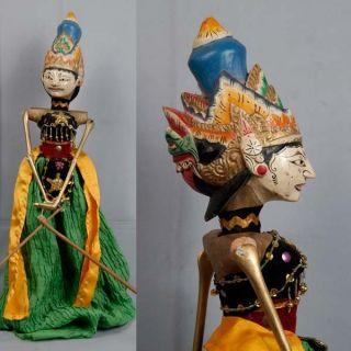 Indonesie Javanese Wayang Golek Marionette Wooden Carved Rod Puppet Jawa Gn08 photo