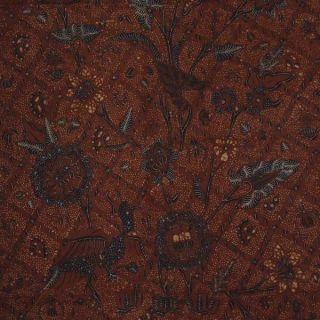 Vintage Indonesian Batik Kombinasi Fabric Textile Clothes Wax Dye Javanese Bz89 photo