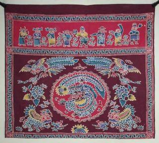 Batik Tokwi Chinese Fabric Table Prayer Cloth Kain By29 photo