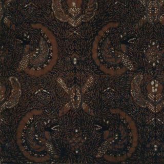 Indonesian Mid Old Batik Fabric Textile Cloth Wax Dye Sogan Javanese Yogya Bx64 photo