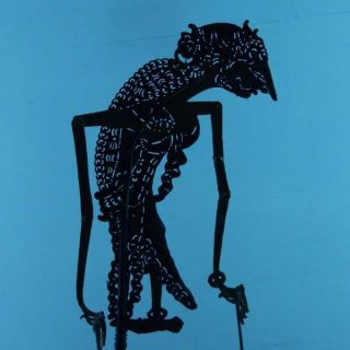 Wayang Kulit Indonesia Schattenspielfigur Marionette Shadow Puppet Gift Cx69 photo