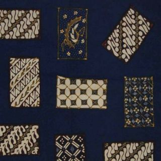 Indonesien Hand Drawn Batik Tulis Fabric Textile Clothes Wax Dye Jawa Bz63 photo