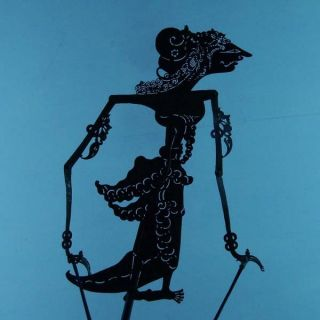 Wayang Kulit Indonesien Schattenspielfigur Marionette Shadow Puppet Gift Cx91 photo