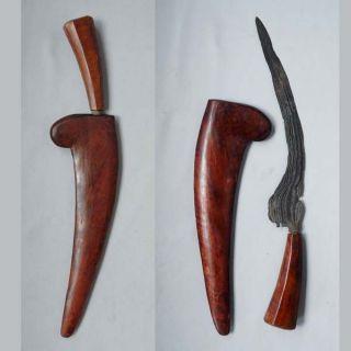 Old Kudi Kujang Wedok Female Sundanese Spear Tombak Lance Keris Ceremonial Rk60 photo