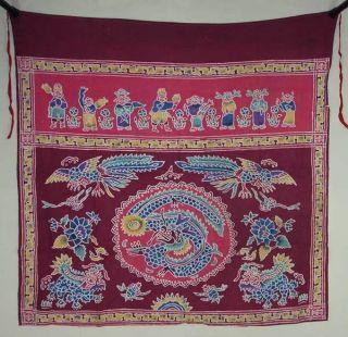 Batik Tokwi Chinese Fabric Table Prayer Cloth Kain By28 photo