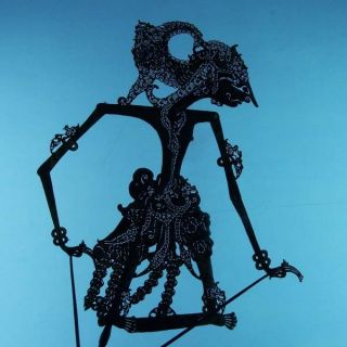 Wayang Kulit Indonesien Schattenspielfigur Marionette Shadow Puppet Gift Cx45 photo