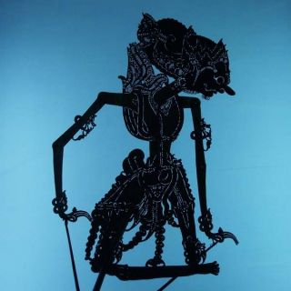 Wayang Kulit Indonesie Schattenspielfigur Marionette Shadow Puppet Gift Cx80 photo