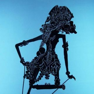 Wayang Kulit Indonesian Schattenspielfigur Marionette Shadow Puppet Gift Cs85 photo