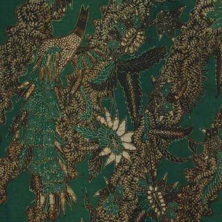 Indonesian Javanese Hand Drawn Batik Tulis Fabric Textile Clothes Wax Dye Bx29 photo