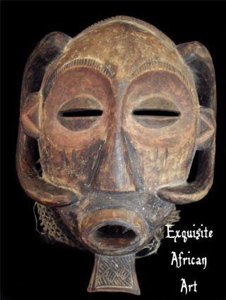 Exquisite & Rare African Luba Mask,  Baluba Katanga Congo photo