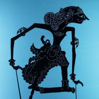 Wayang Kulit Indonesian Schattenspielfigur Marionette Shadow Puppet Gift Cw24 photo