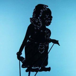 Wayang Kulit Javanese Schattenspielfigur Marionette Shadow Puppet Gift Art Cs78 photo