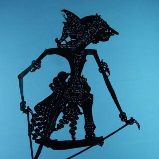 Wayang Kulit Javanese Jawa Schattenspielfigur Marionette Shadow Puppet Gift Da48 photo