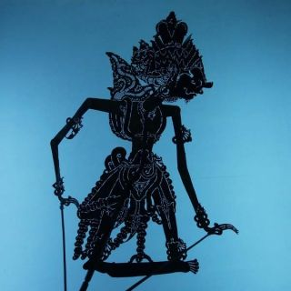 Wayang Kulit Indonesien Schattenspielfigur Marionette Shadow Puppet Gift Cx83 photo