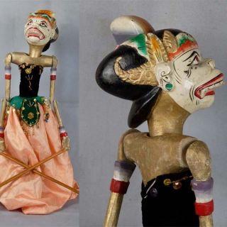 Indonesien Javanese Wayang Golek Marionette Wooden Carved Rod Puppet Jawa Gn01 photo