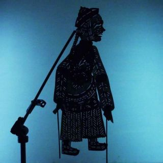 Wayang Kulit China Peranakan Indonesie Schattenspielfigur Shadow Puppet Cx04 photo